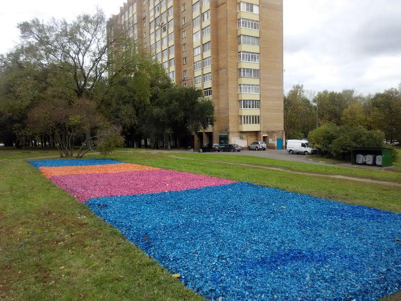 цветные газоны гольяново