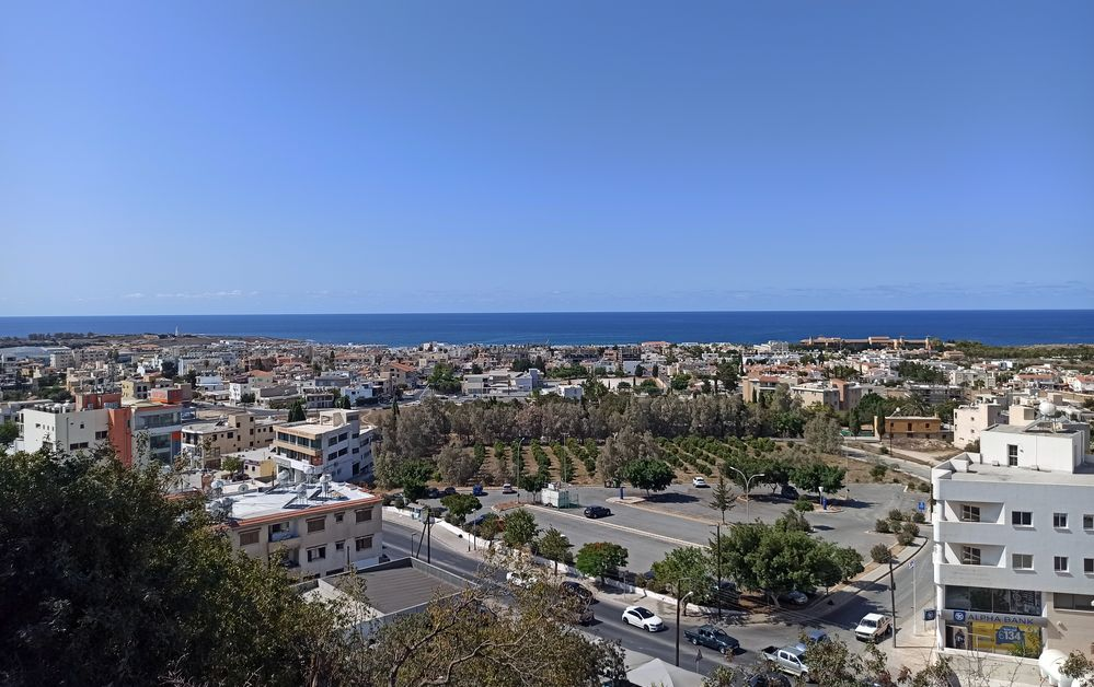 кипр пафос вид на город