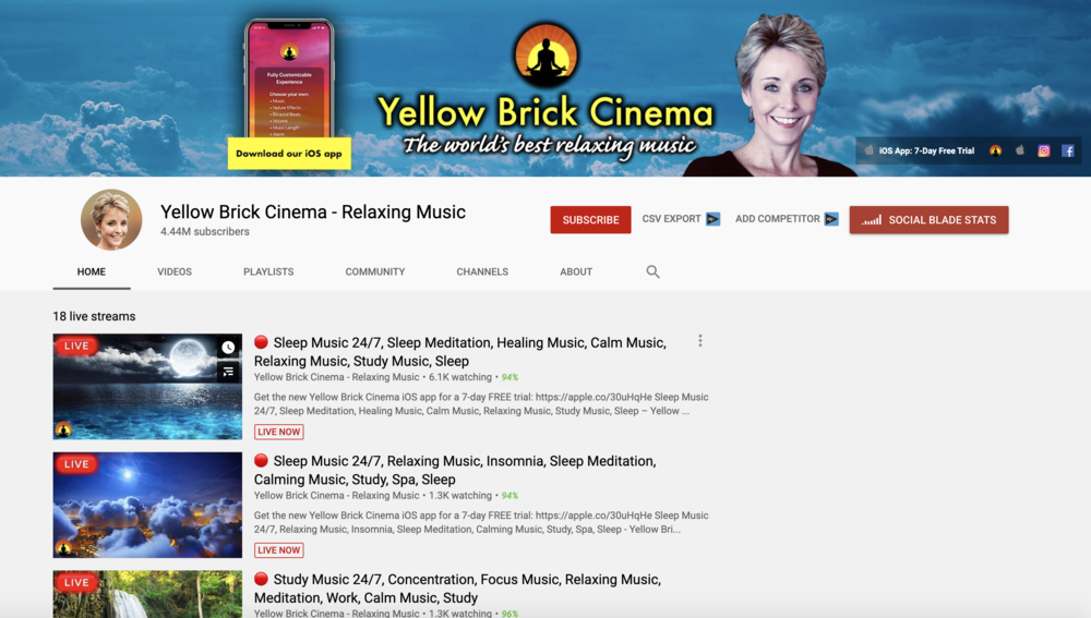 релакс музыка yellow brick cinema
