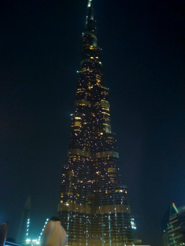 Бурдж Халифа Дубай вечер