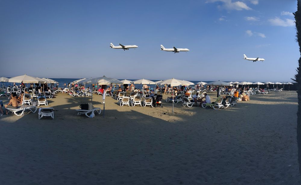 Ларнака пляж Маккензи самолёты