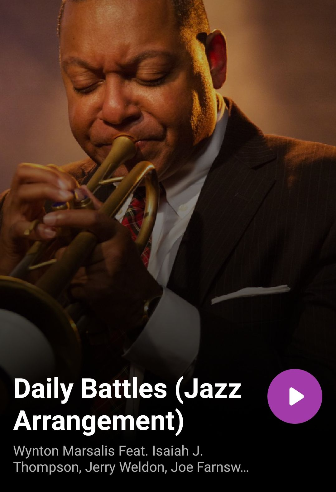 Wynton Marsalis - Daily Battles - Jazz arangement