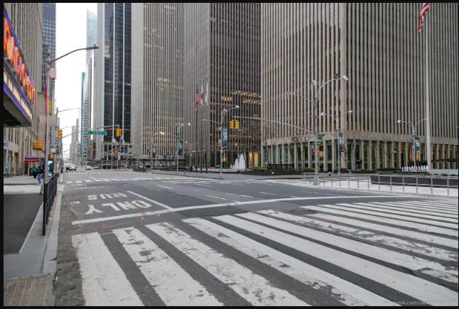 Опустевший Нью Йорк